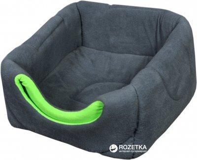 Лежак для собак і кішок Мур-Мяу Пуфік 45х45х45 см Сіро-зелений (4823129223680)