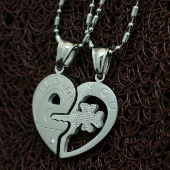 Парные колье YST для влюбленных в виде сердца Хранители Верности