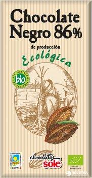 Шоколад органічний Sole Чорний 86% 100 г (8411066003096)