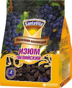 Ізюм Чилійський SantaVita Корисна колекція 200 г (4820061501096)