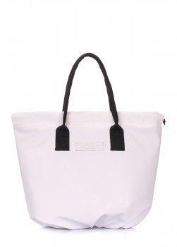 Женская сумка Poolparty Muffin на завязках Белая