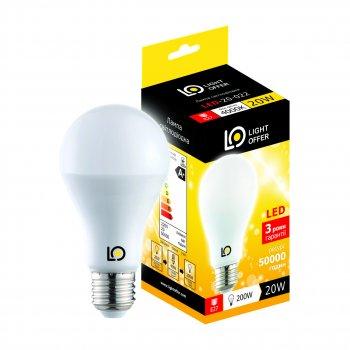 Світлодіодна лампа Light Offer LED A80 20W E27 4000K 2200Lm (LЕD - 20 - 022)