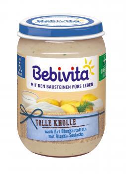 Рибно-овочеве пюре Bebivita Запечена картопля з морською рибою, 190 г (274769)