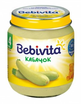 Пюре Bebivita Кабачок, 125 г (093265)