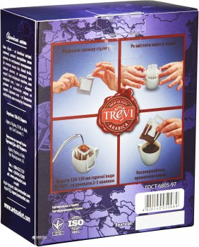 Дрип-кофе Trevi Арабика Эфиопия Иргачифф 5 x 8 г (4820140050996)