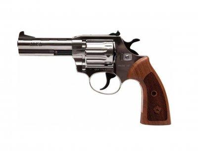 Револьвер під патрон Флобера Alfa mod.441 нікель/дерево. 14310049