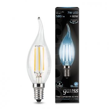 Лампа Гаусса LED Filament Свічка на вітрі E14 7W 580lm 4100К