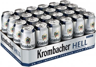 Упаковка пива Krombacher Hell светлое фильтрованное 5% 0.5 л x 24 шт (4008287911213)