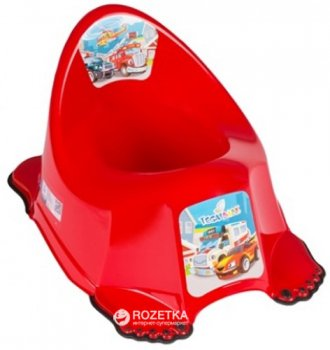 Детский антискользящий горшок с музыкой Tega Baby Cars PO-048 Red (Tega PO-048 red)