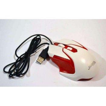 Проводная мышь с подсветкой MOUSE Jedel M85, Белый/Красный