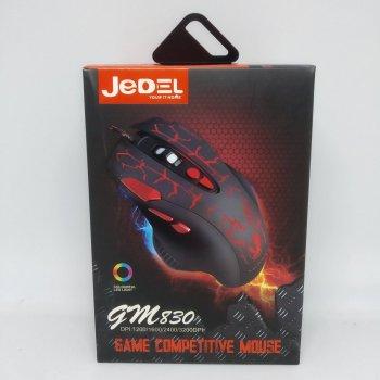 Игровая проводная мышь JEDEL GM830, Черный