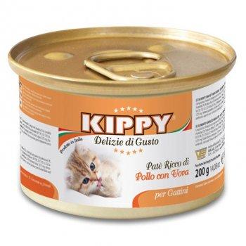 Влажный корм для котят Kippy паштет из мяса курицы и куриных яиц 200 г (70020085 /503398)