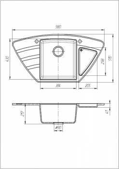 Кухонная мойка Galati Jorum 98B Teracota 701 (8472)