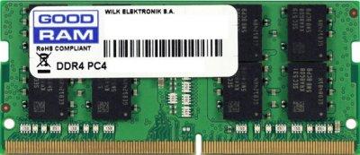 Оперативна пам'ять Goodram SODIMM DDR4-2400 4096MB PC4-19200 (GR2400S464L17S/4G)