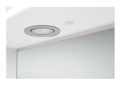 Зеркальный шкаф GRANITIKA Орхидея 60 с подсветкой (Белый) GZO60-11