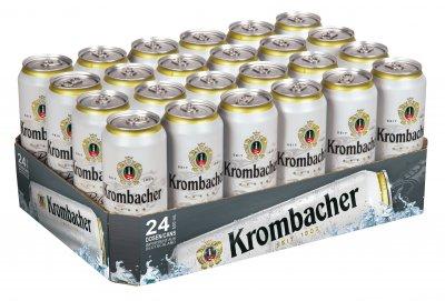 Упаковка пива Krombacher светлое фильтрованное 4.8% 0.5 л x 24 банки (4008287051032)