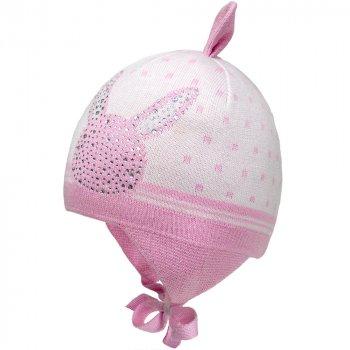 Зимняя шапка с завязками David's Star 1958 38 см Розовая (ROZ6400021834)