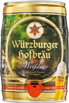 Пиво Wurzburger Weissbier светлое нефильтрованное 5.4% 5 л (4047900004550)