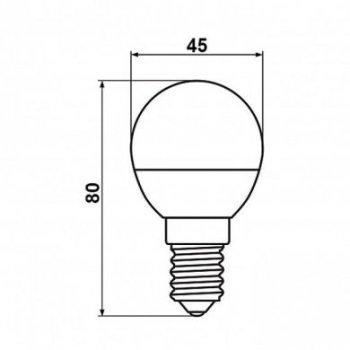 Світлодіодна лампа Biom BT-566 G45 6W E14 4500К матова (131587)