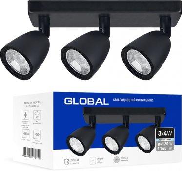 Світильник спотовий GLOBAL GSL-01S 12 Вт 4100 K чорний (3-GSL-11241-SB)