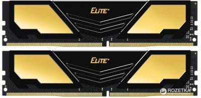 Оперативна пам'ять Team Elite Plus DDR4-2400 16384MB PC4-19200 (Kit of 2x8192) Black (TPD416G2400HC16DC01)