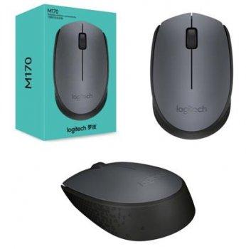 Мышь беспроводная Logitech  M170 black/grey (910-004642)
