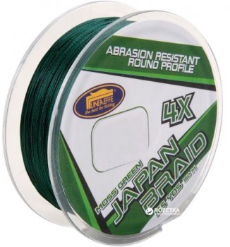 Шнур Lineaeffe Japan Braid 4X PE Moss Green 150 м 0.18 мм 9.1 кг Темно-зеленый (3016018)