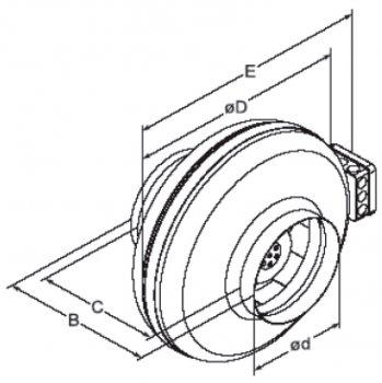 Вытяжной вентилятор Europlast AKM315
