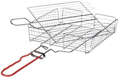 Решетка-гриль с металлической ручкой и высоким бортом А-Плюс 22 x 22 x 4.5 см (1889)