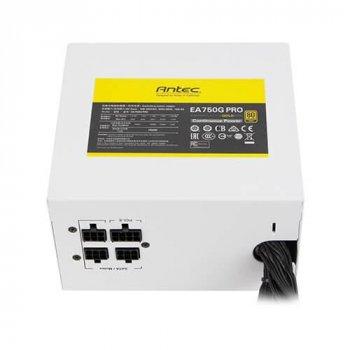 Блок питания Antec EA750G PRO White EC (750W) 80+ GOLD, aPFC, 12см,24+8*2,8*SATA,4*PCIe,+3,полу-мод. (JN630-761345-11629-9)