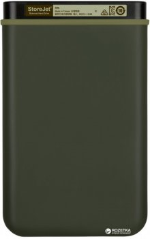 "Жорсткий диск Transcend StoreJet 25M3G 1TB TS1TSJ25M3G 2.5"" USB 3.1 Gen1 External Military Green"