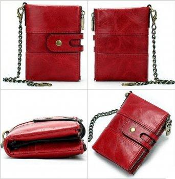 Женский кошелек из натуральной кожи Vintage leather-14680 Красный