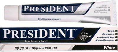 Зубная паста President Clinical White 75 мл (8030009700818)