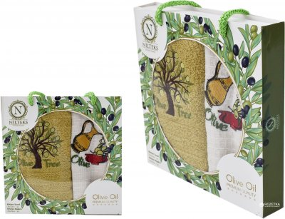 Набор полотенец Nilteks Towel Olive Tree 30х50 2 шт (КУХ3050003)