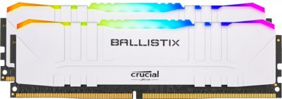 Оперативная память Crucial DDR4-3200 16384MB PC4-25600 (Kit of 2x8192) Ballistix RGB White (BL2K8G32C16U4WL)