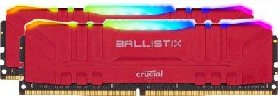 Оперативная память Crucial DDR4-3200 32768MB PC4-25600 (Kit of 2x16384) Ballistix RGB Red (BL2K16G32C16U4RL)
