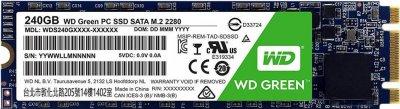 Western Digital Green SSD 240GB M.2 2280 SATAIII 3D NAND (TLC) (WDS240G2G0B)