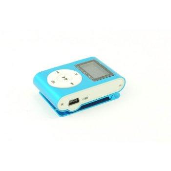 MP3 плеер TD04 с экраном FM алюминиевый корпус Синий