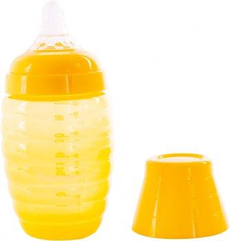 Бутылочка для кормления с широким горлом Baby Team 250 мл (1002_жовтий)