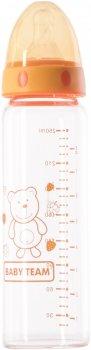 Стеклянная бутылочка для кормления Baby Team 250 мл (1201_помаранчевий)