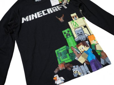 Свитшот Minecraft герои черный