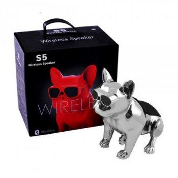Bluetooth-колонка Aerobull DOG METALLIC S5 Pro Silver ( c функцией speakerphone)