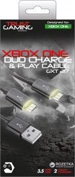 Кабель зарядка Trust GXT 221 Duo Charge Cable для Xbox One Black (TR20432)