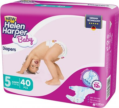 Підгузки Helen Harper Baby New Junior 11-25 кг, 40 шт. (5411416030713)