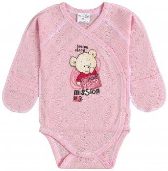Боди-распашонка Garden Baby Секретная миссия 19292-88 Розовая