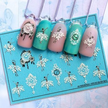Слайдер-дизайн наклейки для нігтів 3D Fashion Nails (3D/71)