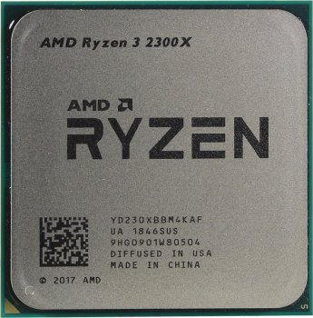 Процессор s-AM4 AMD Ryzen 3 2300X Tray (YD230XBBM4KAF)