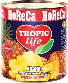 Ананас кусочками в сиропе Tropic Life 3100 мл (5060162900254)