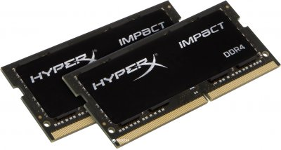 Оперативна пам'ять HyperX SODIMM DDR4-3200 16384MB PC4-25600 (Kit of 2x8192) Impact (HX432S20IB2K2/16)