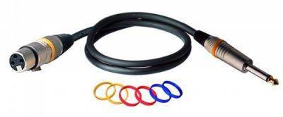 Мікрофонний кабель RockCable RCL30381 D6 F 1 м Black (RCL30381 D6 F)